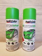 Duplicolor Sublime Green Matte Custom Wrap Removable Paint Plastic Dip ×2