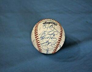 1997 Cincinnati Reds team autographed baseball 24 sigs Mint, Larkin, D. Sanders