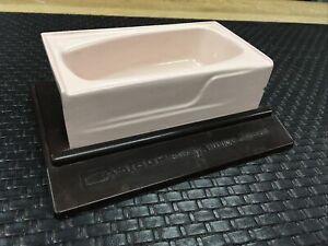 VINTAGE 1950s AMERICAN STANDARD SALESMAN SAMPLE PINK CAST IRON TUB CONTOUR BATH