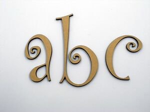 5cm Large Wooden Letter Words Wood Letters Alphabet Name Wedding CUR Lowercase