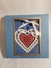 Wedgwood 1st First Christmas Together Ornament 2006 Heart Porcelain