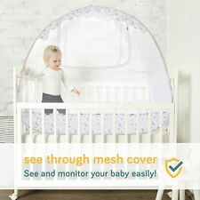 Baby Crib Safety Pop Up Tent, 57� x 48� x 27� Crib Canopy (Crib Tent) Protector