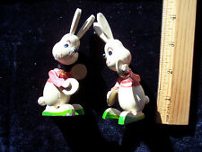 Vintage Easter Bunny Rabbit Nodders w/cymbals marked Japan