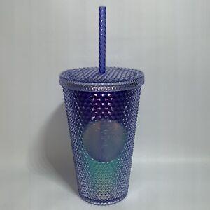 Starbucks Purple Blue Ombre Studded Cold Cup Tumbler Grande 16oz Summer 2021