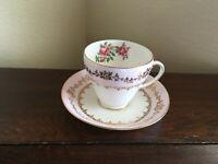 Royal Grafton Bone China, Pale Pink & Gold w/Roses, Cup & Saucer