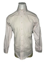 Brooks Brothers Large L Pink Slim-Fit Non-Iron Mens Button-Down Shirt | 16 - 35