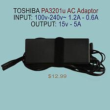 Genuine TOSHIBA PA3201U AC Adapter 15V - 5A OUTPUT