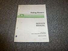 John Deere 66 68 Riding Mower Technical Service Repair Shop Manual Sm2107