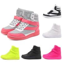 Women's Hidden Wedge Sneakers High Top Athletic Sports Shoes Thick Bottom Boots