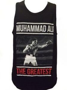 "New Muhammad Ail ""The Greatest"" Mens Sizes S-M-L-XL-2XL Black Tank Top Shirt"