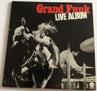"GRAND FUNK RAILROAD ""LIVE ALBUM"" (2 LPS) PREMIUM QUALITY USED LP Includes Poster"