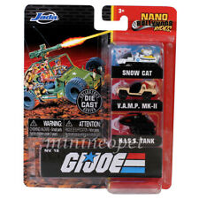 JADA 32083 NANO HOLLYWOOD G I JOE SNOW CAT, V.A.M.P MK-II, H.I.S.S TANK 1.65""