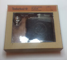 Timberland Leather Covered Flask with Filling Funnel 6 oz stainless steel new in