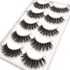 �Ÿ'™ NEW 5Pair 3D Mink False Eyelashes Wispy Cross Long Thick Soft Fake Eye Lashes