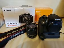 Canon EOS 650D / Rebel T4i 18.0MP Digital SLR Camera - Black with accessories