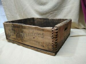 RARE ANTIQUE PETERS CARTRIDGE   WOOD AMMO CRATE 10000 .22 SHORT  R.F. DOVETAIL