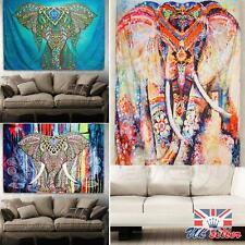 Tapiz indio Elefante grande Colgar en pared Mandala Hippie Colcha Toalla Playa