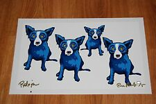George Rodrigue Blue Dog Take All Of Me Silkscreen Print Signed Numbered Artwork