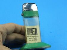 RARE 1950/60s LARGE TALL SCRIPTO TABLE LIGHTER - ARROW BEEF CORP - EXCELLENT!!