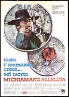 TESTA T'AMMAZZO CROCE SEI MORTO MANIFESTO FILM SPAGHETTI WESTERN 1971 POSTER 4F
