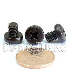 M5 x 6mm - Qty 10 - Phillips Pan Head Machine Screws - DIN 7985 A - Black Steel