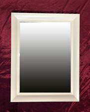 Designer Wandspiegel Spiegel Zeitlos mit Facettenschliff in WEIß 70x90 Neu