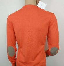 Hackett Mens Jumper Orange Cashmere Cotton Sweater Coral Sz XL New RRP£135 Italy