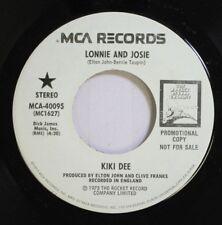 Rock Promo 45 Kiki Dee - Lonnie And Josie / Lonnie And Josie On Mca Records