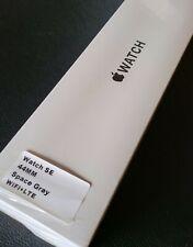 Apple Watch SE 44mm GPS Celluar LTE Alu Space Grau Sportband schwarz Neu Top