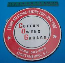 """Cotton Owens Garage Spartanburg Metal Round Raised Letter 12"""" Man Cave Sign New"""