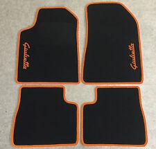 Autoteppich Fußmatten für Alfa Romeo Giulietta Schrift/orange Seite 4tlg Neuware
