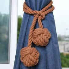 Beige Tie Rope Curtain Buckles Ball Solid Color Tie Backs Modern Hook Holder LS