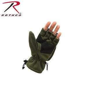 Rothco 4396 Fingerless Sniper Glove / Mittens - Olive Drab