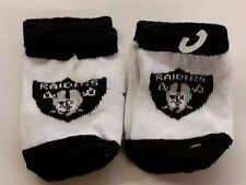 NFL Infant Baby Socks (Size 12-18 Months) Oakland Raiders #2-2 (2 Pair)
