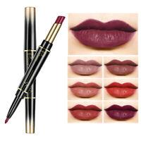 10 Colors Waterproof Pencil Lipstick Pen Matte Lip Liner Long Lasting Makeup