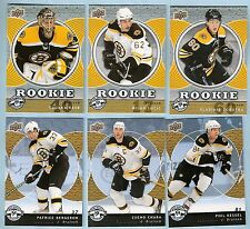 2007-08 Upper Deck UD Mini Jersey Boston Bruins Team Set (6 w/ Lucic Rask RC's)