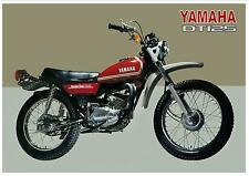 YAMAHA Poster DT125 DT125A Trail 1974 Suitable to Frame