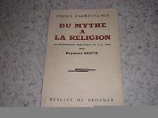 1955.études carmélitaines.mythe à religion.psychologie de Jung / Raymond Hostie