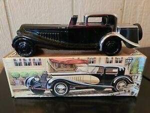 Vintage Avon Bugatti '27 Decanter Wild Country After Shave W/ Box 6.5 Oz.