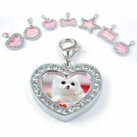 1PC Cute Pet ID Tags Metal Crystal Puppy Dog Cat Name Tag Personalized Gift