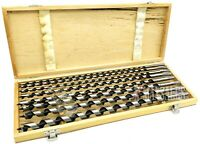 "8Pcs Auger Drill Bit Set 18"" Extra Long Wood Drills With Wood Case New"