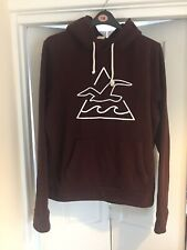 Mens Burgundy HOLLISTER HOODIE SIZE XL Hollister Hooded Top XL Used Good