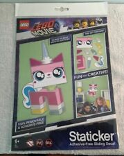 LEGO The Movie 2 Unikitty Staticker (Adhesive Free Decals, Removable, Reusable)