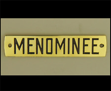 Menominee Electric Fan Cage Badge - Reproduction
