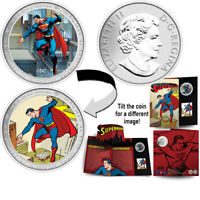 (4) 2013 RCM 75th ANNIVERSARY OF SUPERMAN 50 CENT COIN AND STAMP SETS