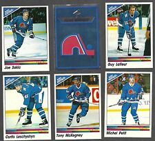 1990-91 Panini NHL Quebec Nordiques Team Set, Lafleur, Sakic, etc.(15)