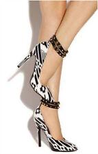 Red Kiss Dance-Away Black Pink Tribal Pointy toe Pump High Heel Women's shoes