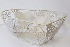 Stile Vintage shaby chic FARFALLA design in metallo Uovo Di Frutta Cesto Di Filo-NUOVO