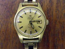 Vintage gold LADIES OMEGA AUTOMATIC GENEVA DATE WRISTWATCH watch RARE