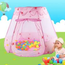 Kids Toys Princess Play Tent Girls for 1-8Years Old Balls Gifts Pink Portable US